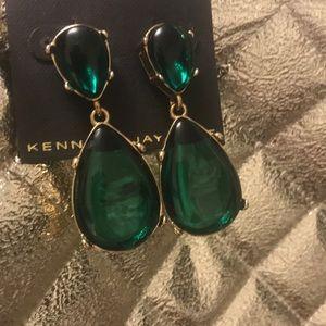 Kenneth Jay Lane JOLIE Emerald Statement Earrings
